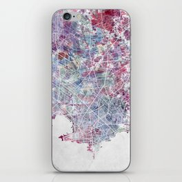 Montevideo Map iPhone Skin