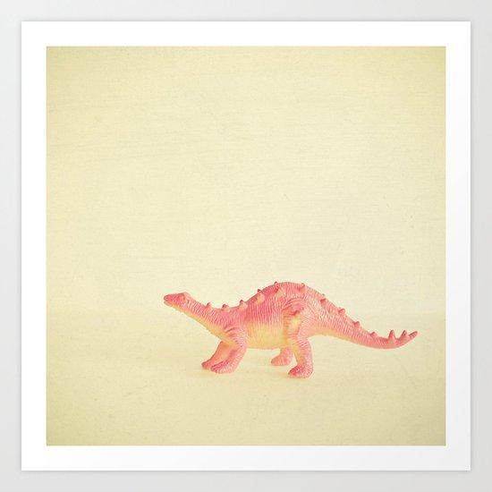 Pink Dinosaur Art Print
