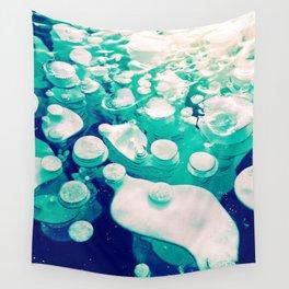 Green Fancy Bubbles Wall Tapestry