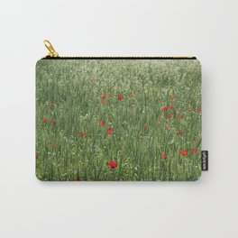Poppy Field And Springtime Hay Meadow  Carry-All Pouch
