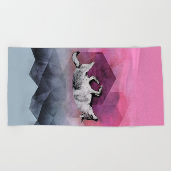 The Wolf Geometry Beach Towel