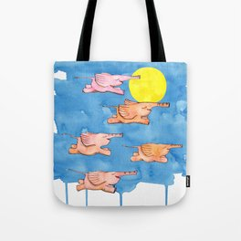 Flying Elephants Tote Bag