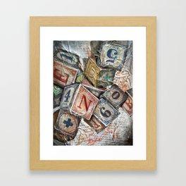 Blox Framed Art Print