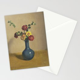 Marigold flowers in a blue vase, Willem Witsen, 1885 - 1922 Stationery Cards
