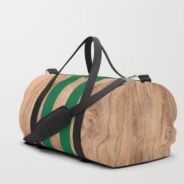Wood Grain Stripes - Green #319 Duffle Bag
