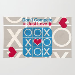 Don't COMPETE Just LOVE (Tic Tac Toe) Rug
