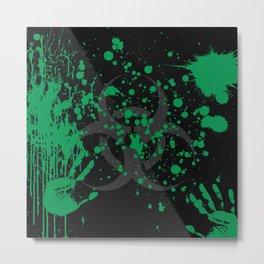 Alien Biohazard Metal Print