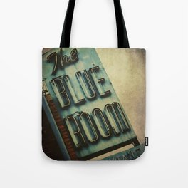Blue Room Neon Sign Tote Bag