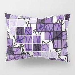 Purple | Squares Pillow Sham