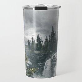 Landscape Athabasca Falls Christmas Travel Mug