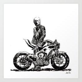 Rider 2 RAW Art Print