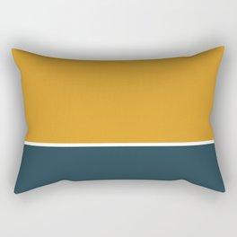 Deep Yellow & Annapolis Blue Rectangular Pillow