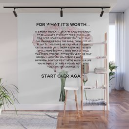 for what it's worth -  Fitzgerald life quote Wall Mural