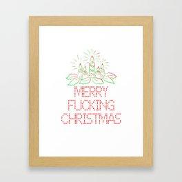 Merry Fucking Christmas Framed Art Print
