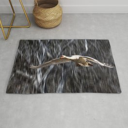 Swan in Flight Rug
