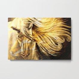 Golden Palomino Equine Art Metal Print