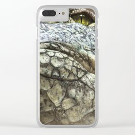 Wildlife Collection: Crocodile Clear iPhone Case