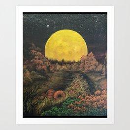 Dreaming in Autumn Art Print