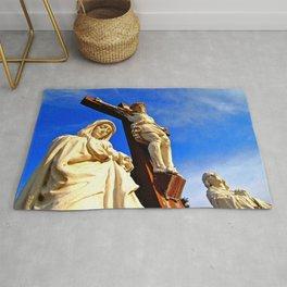 Artistic crucifixion  Rug