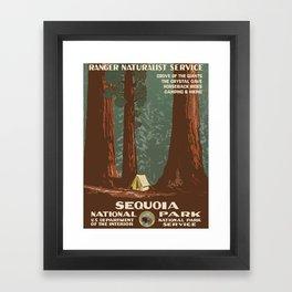 Vintage poster - Sequoia National ParkX Framed Art Print