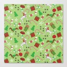 Christmas Pups Canvas Print