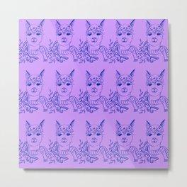 Alpaca pattern Metal Print