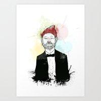 steve zissou Art Prints featuring Steve Zissou  by suPmön