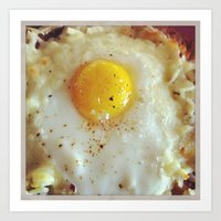egg Art Prints featuring Egg by Yellow Barn Studio