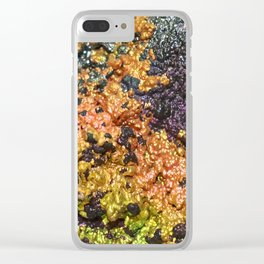 Rusty Sunset Stones Clear iPhone Case