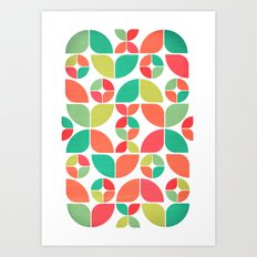 Vintage Summer Pattern Art Print