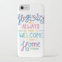 hogwarts iPhone & iPod Cases featuring Hogwarts by IndigoEleven