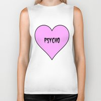 psycho Biker Tanks featuring Psycho by fyyff