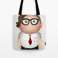 nerd Tote Bags featuring Nerd. by Creation Factory