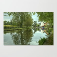 The Canal at Stoke Prior Canvas Print