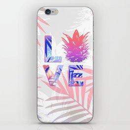Love Pineapple Typography Tropical Boho Summer Vibes iPhone Skin