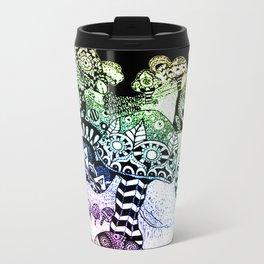 Mushroom Field Metal Travel Mug
