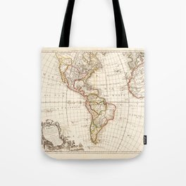 North and South America Map (1754) Tote Bag