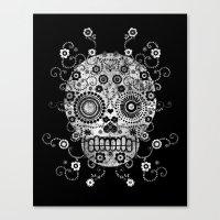 sugar skull Canvas Prints featuring Sugar Skull by Farnell