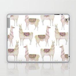white llamas pattern Laptop & iPad Skin