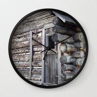 cabin Wall Clocks featuring Cabin by courtney2k ⚓ design™