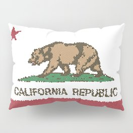 California Bear Flag Stained Glass Pillow Sham