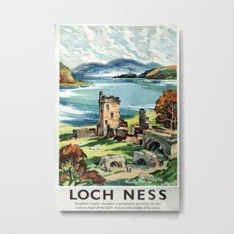 Loch Ness Vintage Travel Poster Metal Print