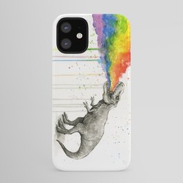 T-Rex Dinosaur Vomits Rainbow iPhone Case