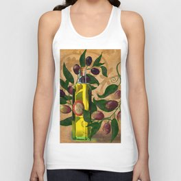 Olives and Italian Olive Oil Unisex Tank Top