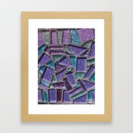 Sparkly Purple Mosaic  Framed Art Print