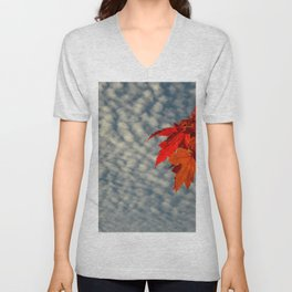 Evening Sky in The Fall by Teresa Thompson Unisex V-Neck