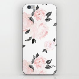 Vintage Blush Floral - BW iPhone Skin
