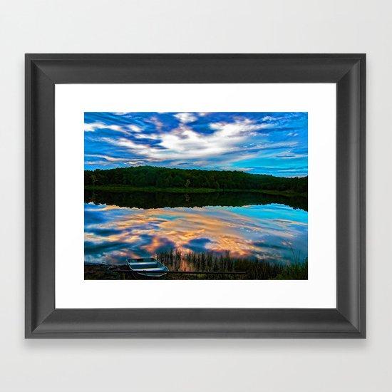 Evening Reflection Framed Art Print