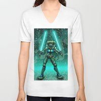 jedi V-neck T-shirts featuring JEDI GUARDIAN by Bungle