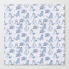 Grey Foxes Canvas Print